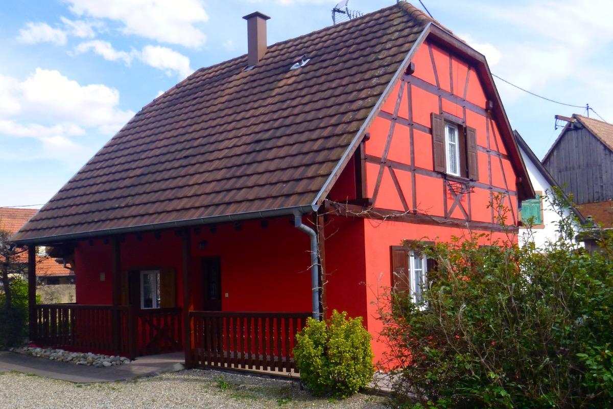 Entrée, façade Ouest - Location de vacances - Stotzheim