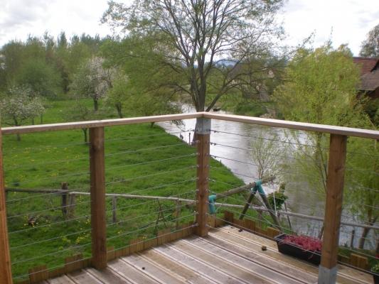belle terrasse bois - Chambre d'hôtes - Muttersholtz