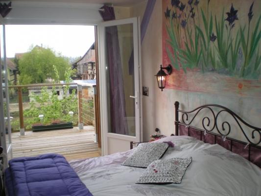 accès à la terrasse - Chambre d'hôtes - Muttersholtz