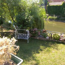 jardin, balancelle et balançoire - Chambre d'hôtes - Muttersholtz