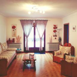 salon donnant sur balcon - Location de vacances - Wangenbourg-Engenthal