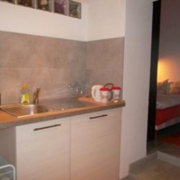 la cuisine de la chambre meublée, gîte*** à la nuitée - Location de vacances - Strasbourg