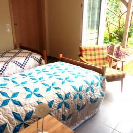 1 chambre avec 2 lits individuels - Location de vacances - Obersteinbach