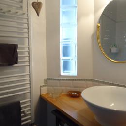 salle d'eau détail de la décoration - Location de vacances - Strasbourg