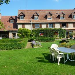 Jardin avec vue de la maison - Chambre d'hôtes - Breuschwickersheim