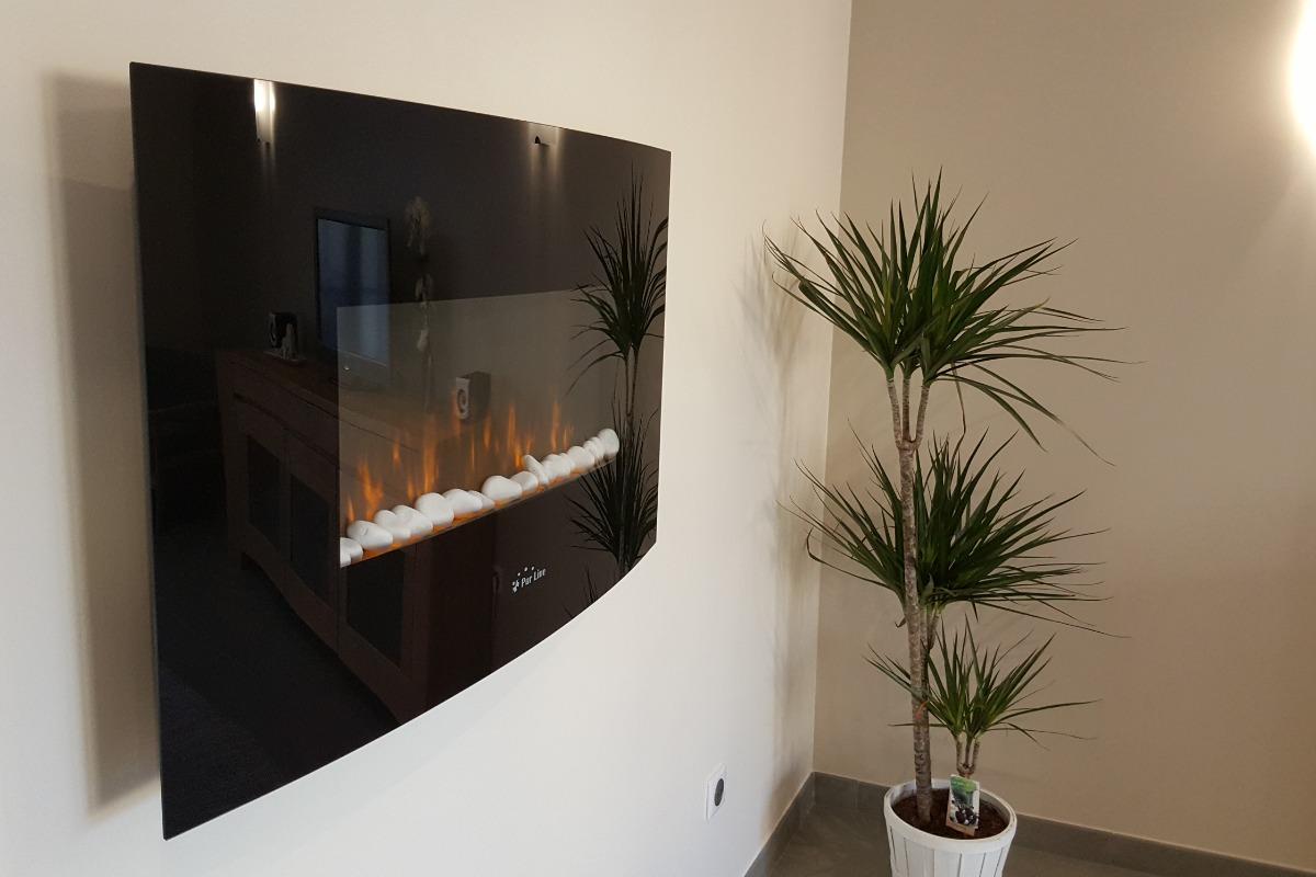 cheminée d'appoint électrique pour une ambiance cosy - Location de vacances - Scharrachbergheim-Irmstett