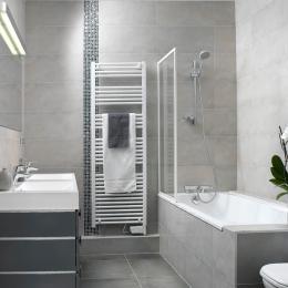 salle de bains avec baignoire pour des moments de détente Strasbourg - Location de vacances - Strasbourg