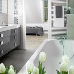 salle de bains, baignoire pour la détente Strasbourg - Location de vacances - Strasbourg