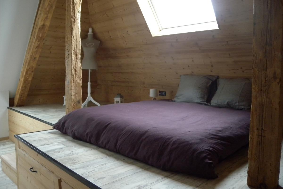 Couchage à l'étage - Location de vacances - Sélestat