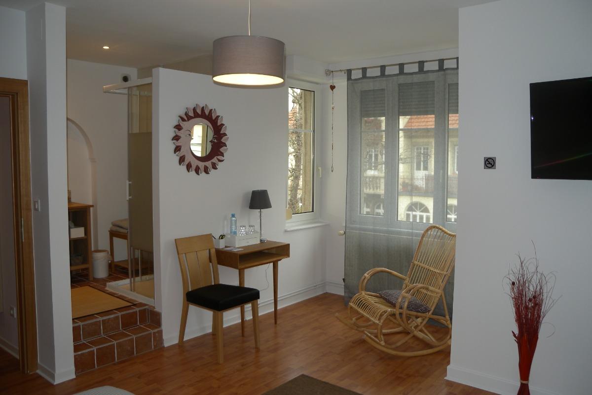 Chambre trèfle espace couchage 1 - Chambre d'hôtes - Sélestat