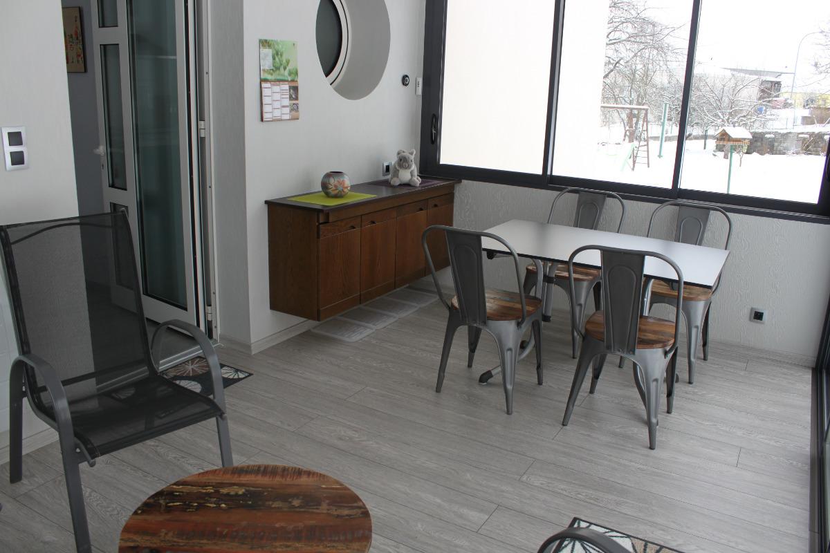 Véranda, salon - Location de vacances - Romanswiller