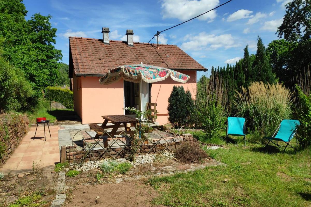 térrasse avec verdure - Location de vacances - Wingen-sur-Moder