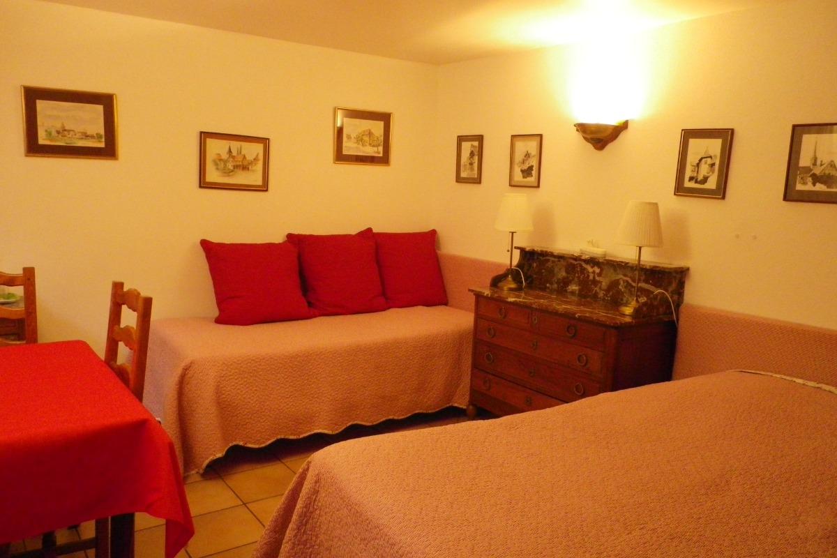 La chambre n°1 - vue vers la gauche - Chambre d'hôtes - Blaesheim