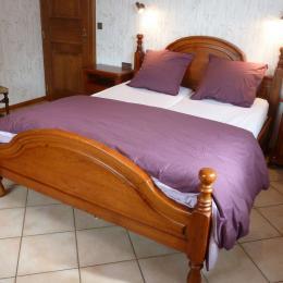 Chambre 2 : lit double 160 x 190 cm (2 matelas de 80 cm) - Location de vacances - Epfig