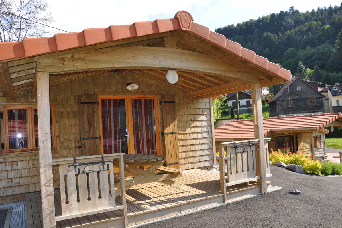 Entrée avec terrasse - Location de vacances - Wangenbourg-Engenthal