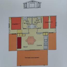 Plan du chalet - Location de vacances - Wangenbourg-Engenthal