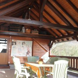 Terrasse couverte  - Location de vacances - Nothalten
