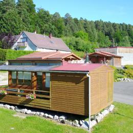 Vue arrière, coté terrasse - Location de vacances - Wangenbourg-Engenthal