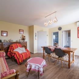 La chambre des grands, avec un grand lit double et un grand dressing, donne sur une salle de bain avec WC - Location de vacances - Riquewihr