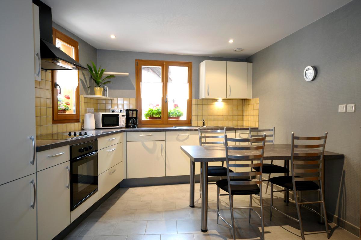 Cuisine aménagée - Location de vacances - Bergheim