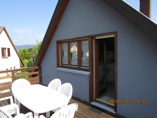 vue intérieure cuisine /salon / repas  - Location de vacances - Wintzenheim