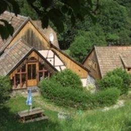 terrasse commune chambres Alain, Bruno et Clémentine - Chambre d'hôtes - Linthal