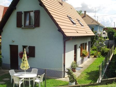 Vue arrière avec jardin - Location de vacances - Kunheim