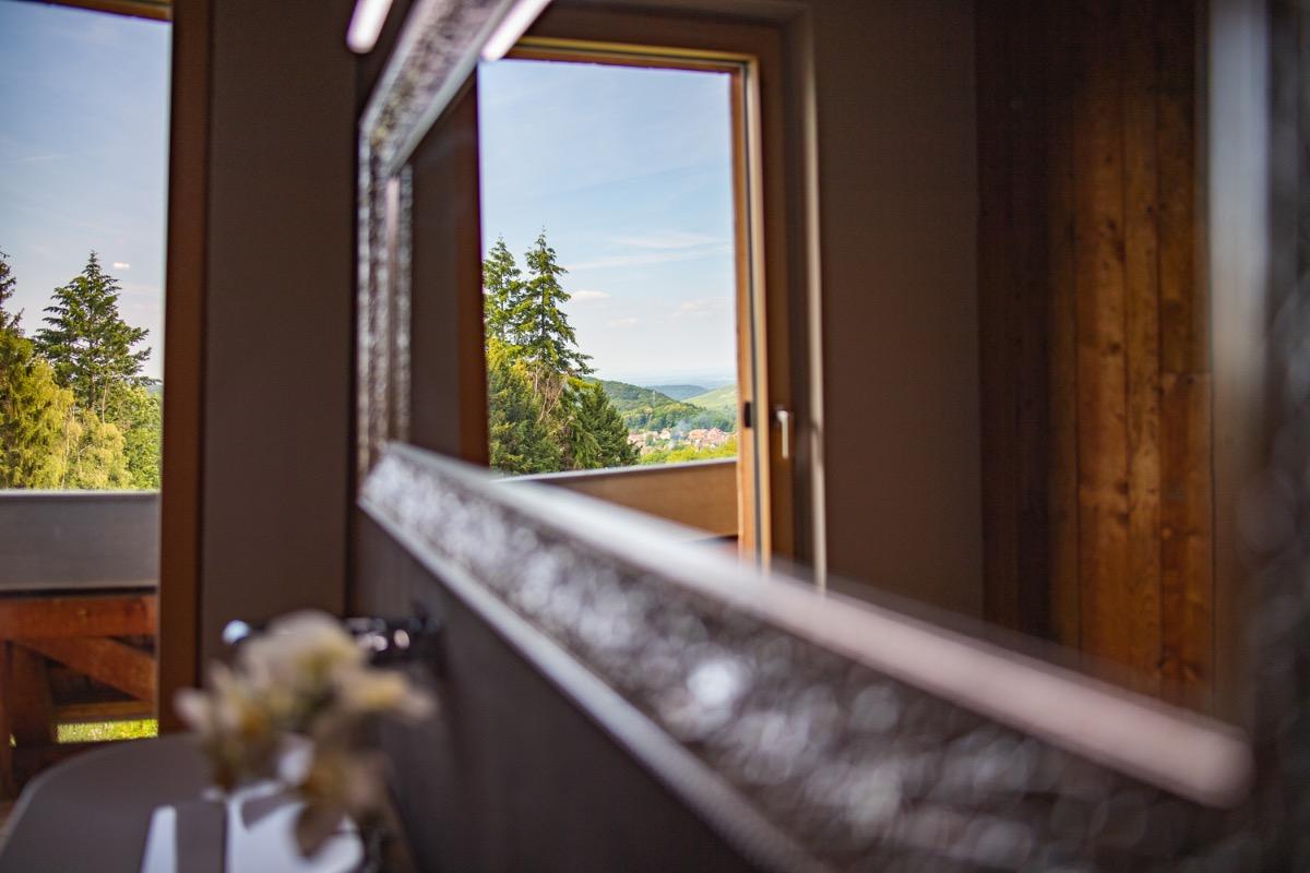 Chambre double avec mezzanine - Location de vacances - Osenbach