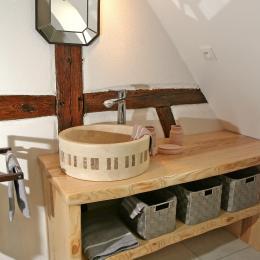 Salle de bain niveau 2 - Location de vacances - Eguisheim