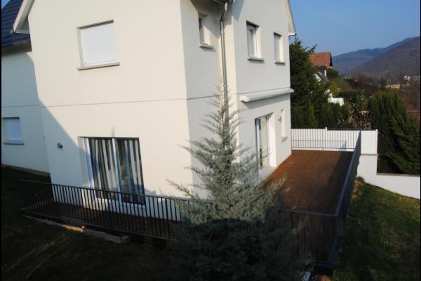 vue sur la terrasse - Location de vacances - Walbach