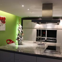 cuisine avec ilot central très bien équipé - Location de vacances - Ribeauvillé