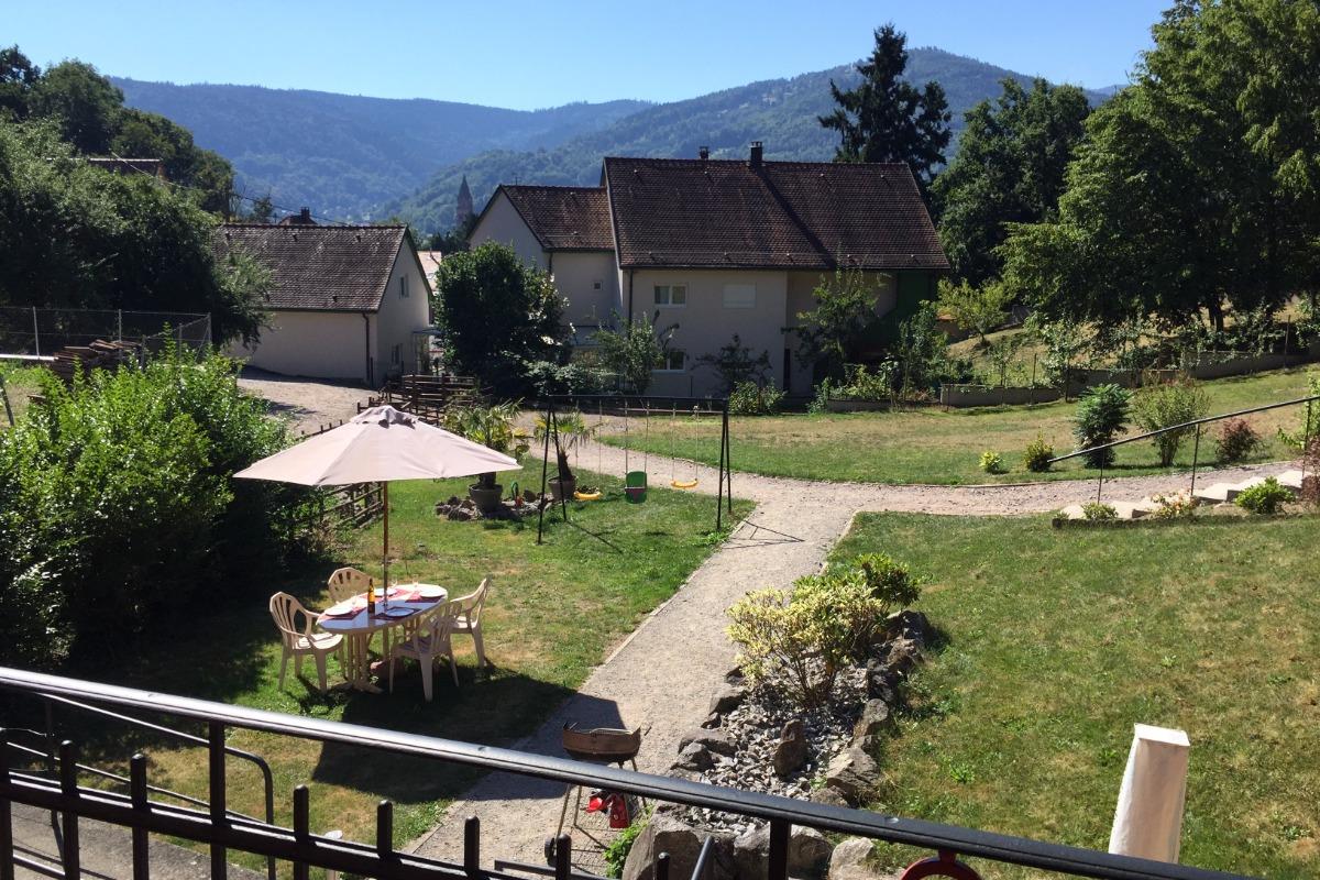 du balcon vu sur le jardin et le Obersolbeg
