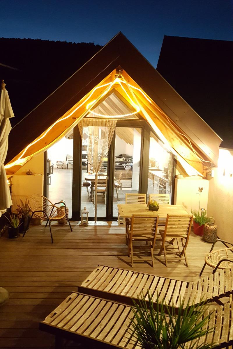 Terrasse de nuit - Location de vacances - Vœgtlinshoffen
