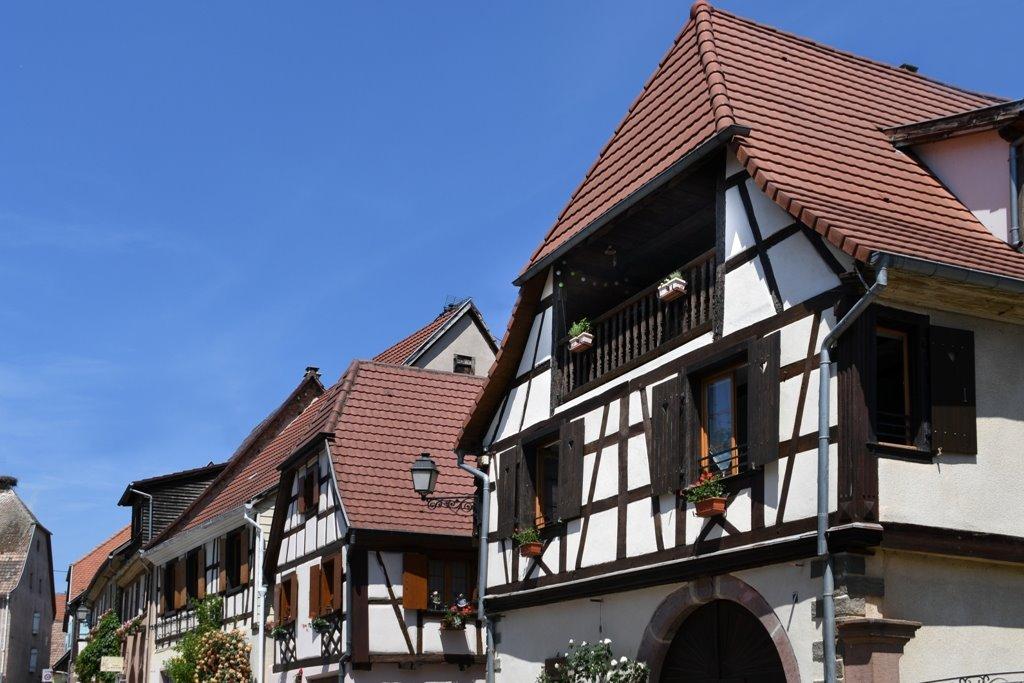 La facade de la maison - Location de vacances - Beblenheim