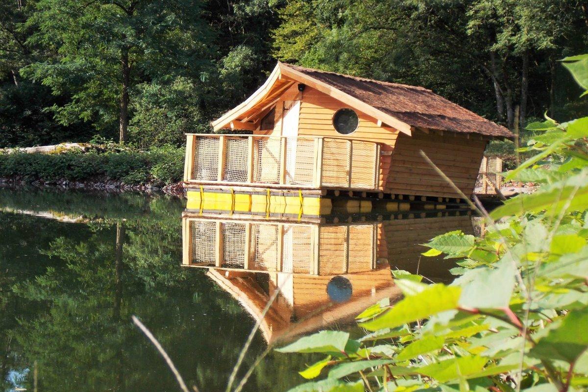 Extérieur de la cabane flottante - Location de vacances - Burnhaupt-le-Haut