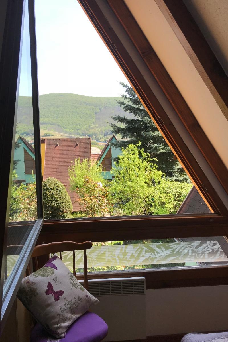 Vue depuis l'étage - Location de vacances - Kaysersberg