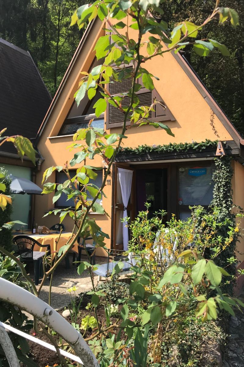Terrasse depuis jardin - Location de vacances - Kaysersberg