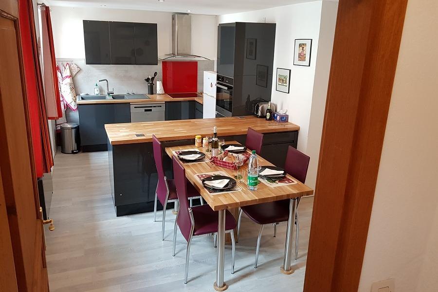 cuisine et coin repas - Location de vacances - Rouffach