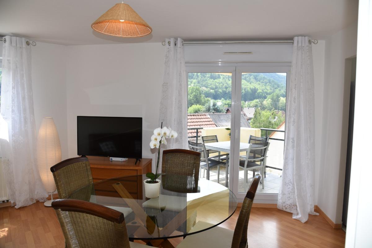 salon-séjour vers terrasse - Location de vacances - Kaysersberg
