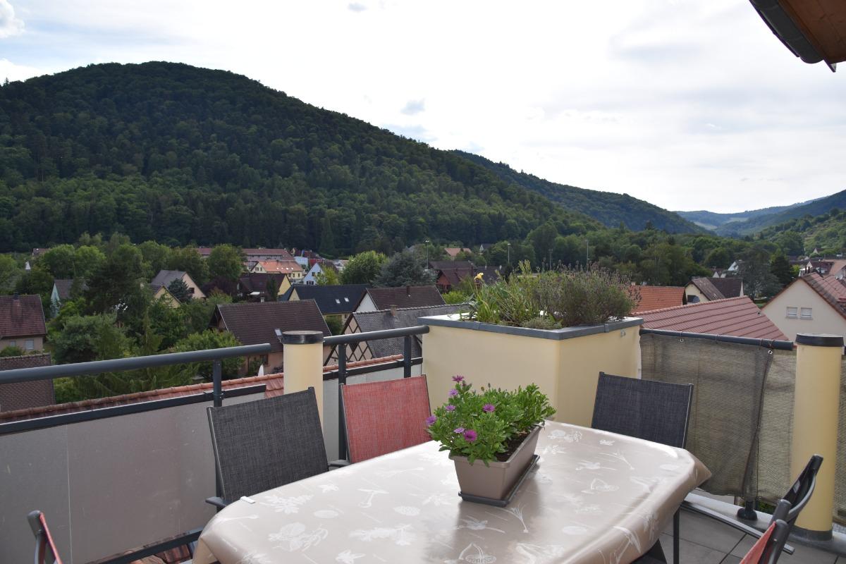 terrasse avec store - Location de vacances - Kaysersberg