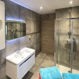 La chambre aux bouteilles - Salle d'eau - vue 2 - Chambre d'hôtes - Gueberschwihr