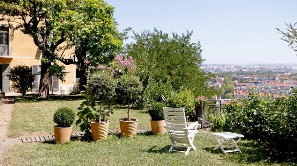 terrasse supérieure - Location de vacances - Lyon