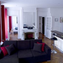 Pièce de vie - Location de vacances - Lyon