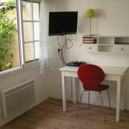 Espace bureau avec connexion internet par cable ou en Wifi - Location de vacances - Lyon