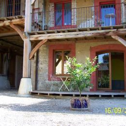 terrasse - Location de vacances - Jons