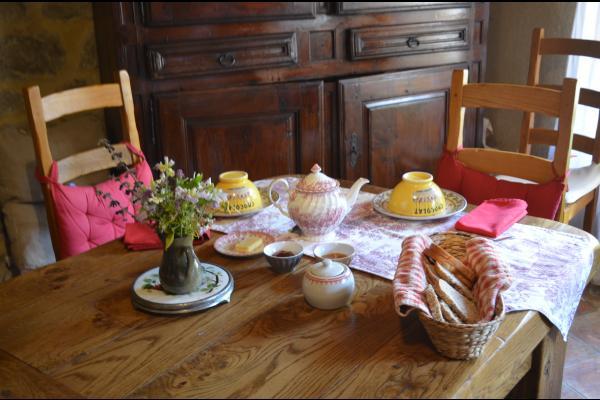 Petit déjeuner - Chambre d'hôtes - Labastide-sur-Bésorgues