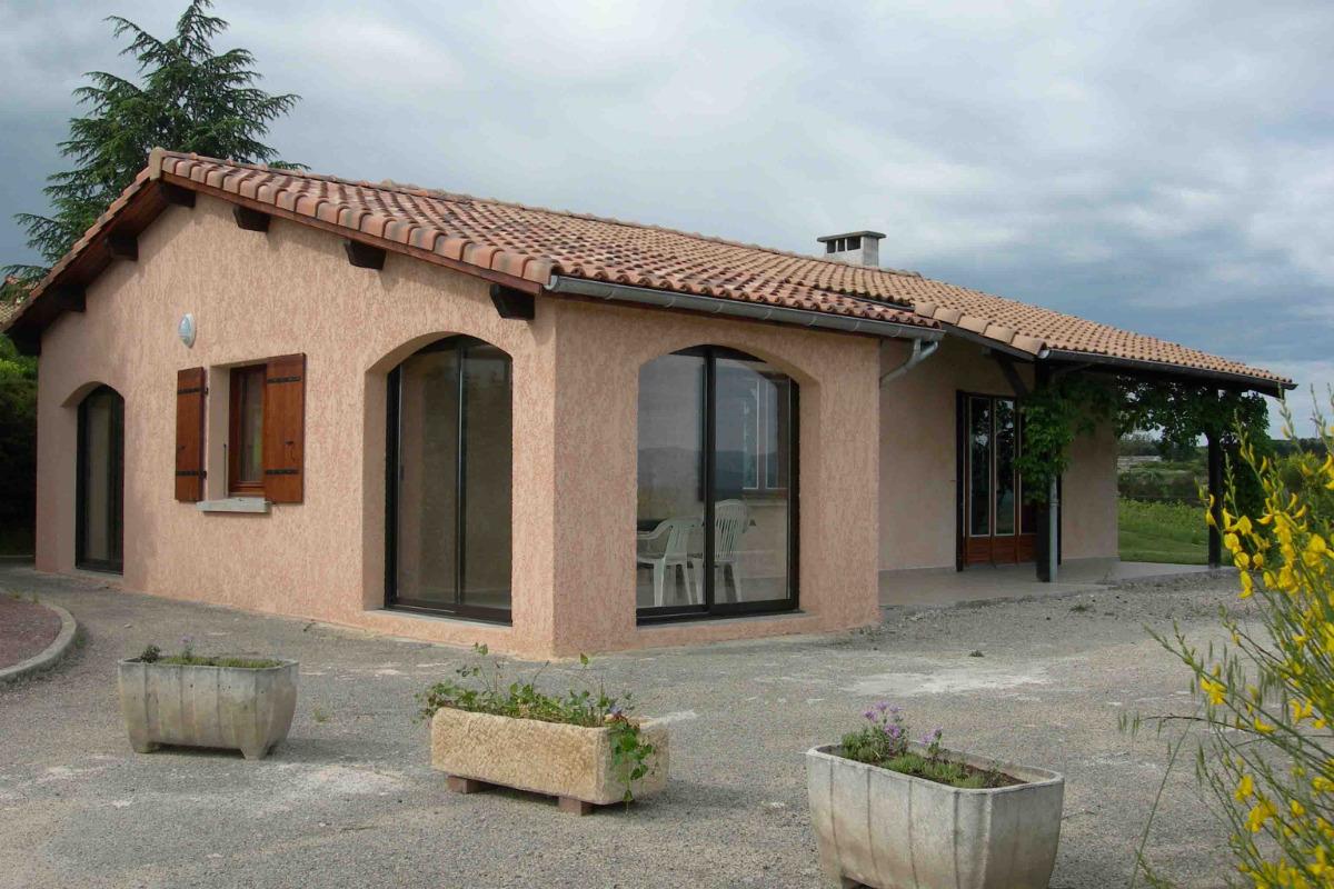 Gîte indépendant en Ardèche méridionale - Véranda côté vallée - Location de vacances - Villeneuve-de-Berg