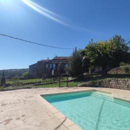 La piscine privée - Location de vacances - Sanilhac