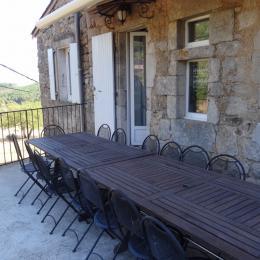 2eme terrasse - Location de vacances - Sanilhac