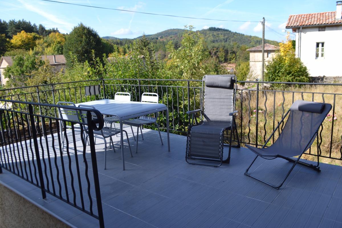 terrasse   - Location de vacances - Saint-Barthélemy-Grozon